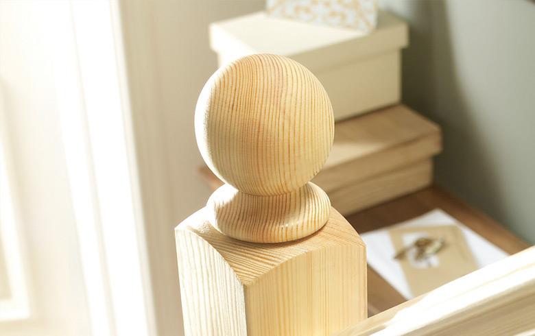 Pine Newel Post Caps